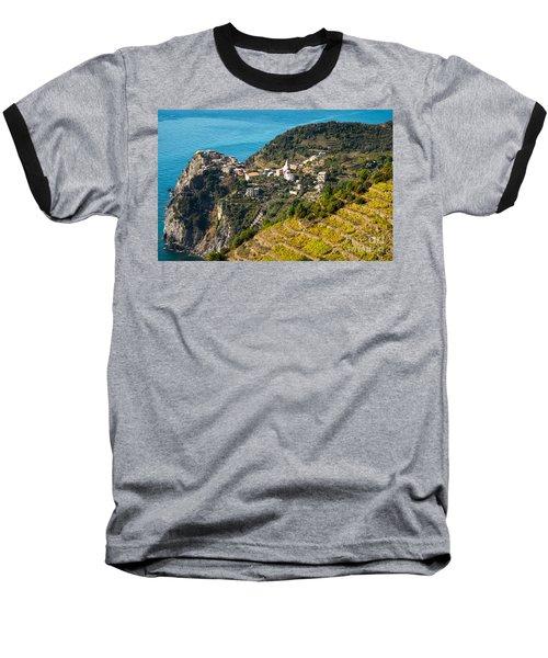 Looking Down Onto Corniglia Baseball T-Shirt