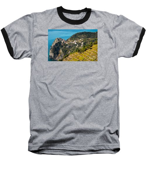 Looking Down Onto Corniglia Baseball T-Shirt