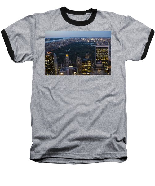Looking From Top Of The Rock Baseball T-Shirt