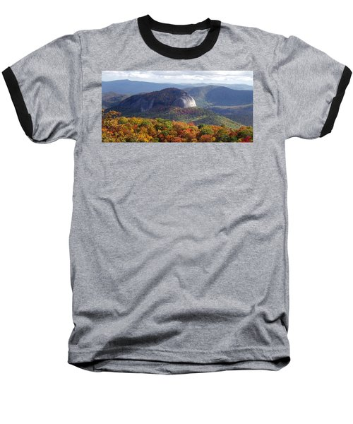 Looking Glass Rock And Fall Folage Baseball T-Shirt