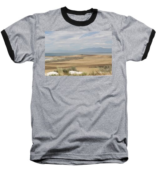 Baseball T-Shirt featuring the photograph Looking North From Antelope Island by Belinda Greb