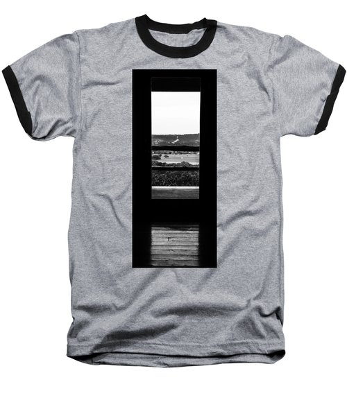 Looking Out A Country Door. Baseball T-Shirt