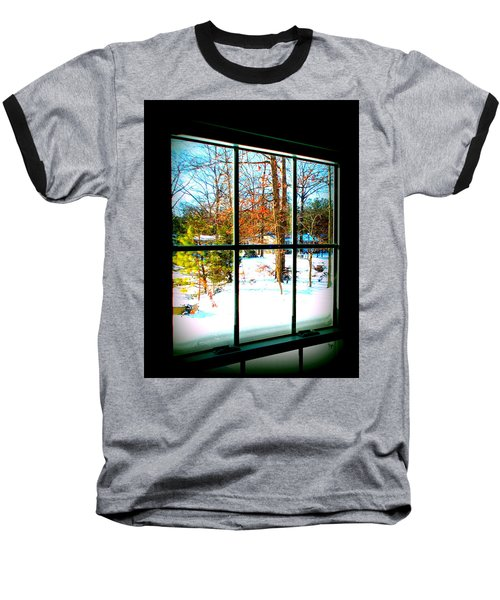 Looking Out Baseball T-Shirt by Pamela Hyde Wilson