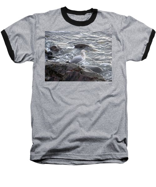 Looking Out To Sea Baseball T-Shirt by Eunice Miller