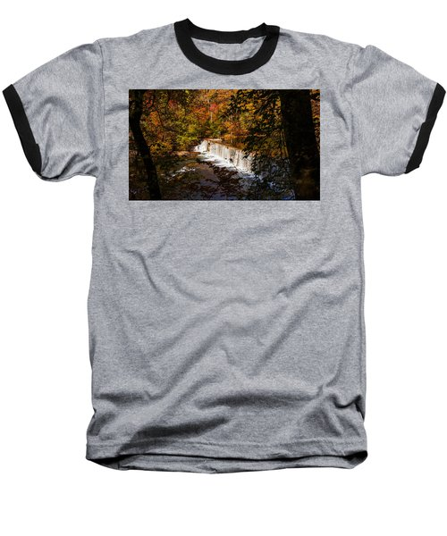 Looking Through Autumn Trees On To Waterfalls Fine Art Prints As Gift For The Holidays  Baseball T-Shirt