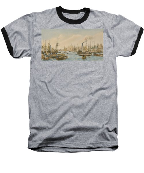 Looking Towards London Bridge Baseball T-Shirt