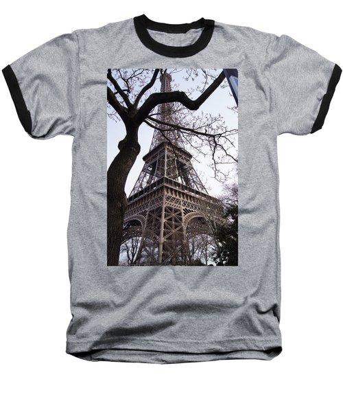 Looking Up To Eiffel  Baseball T-Shirt by Debi Demetrion