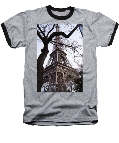 Looking Up To Eiffel  Baseball T-Shirt