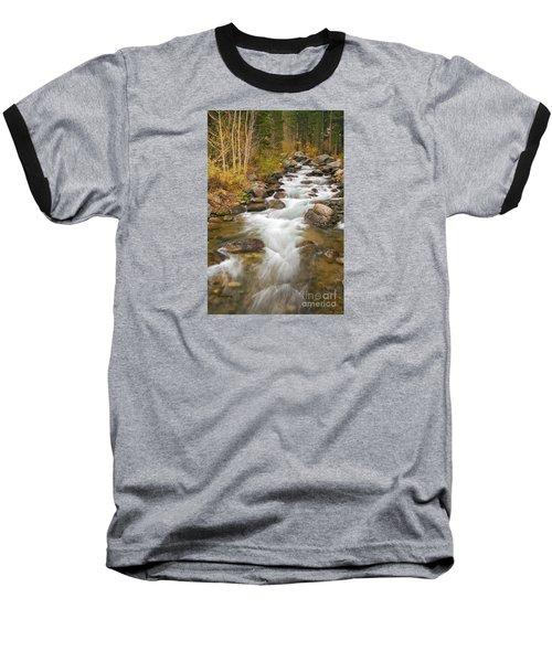 Looking Upstream Baseball T-Shirt by Alice Cahill