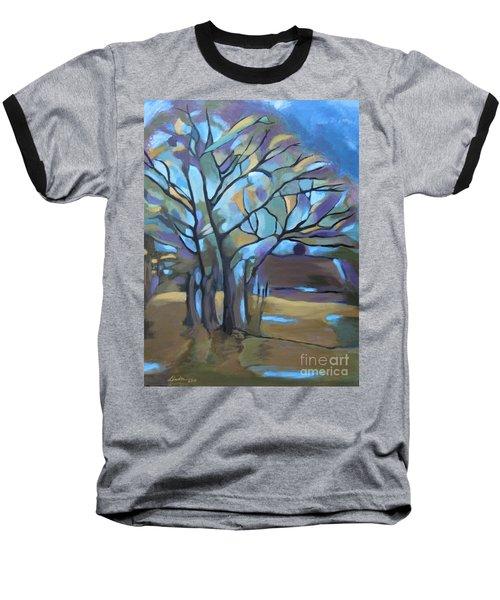 Looks Like Mondrian's Tree Baseball T-Shirt