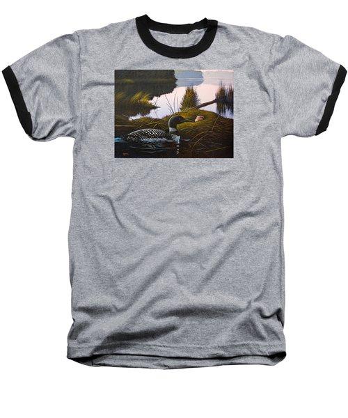Loon Lake Baseball T-Shirt by Richard Faulkner