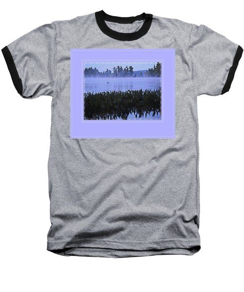 Loon On A Misty Morning At Parker Baseball T-Shirt by Joy Nichols