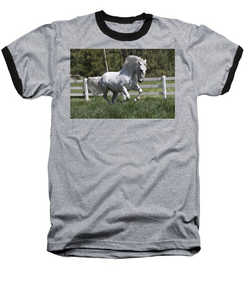 Loose In The Paddock Baseball T-Shirt by Wes and Dotty Weber