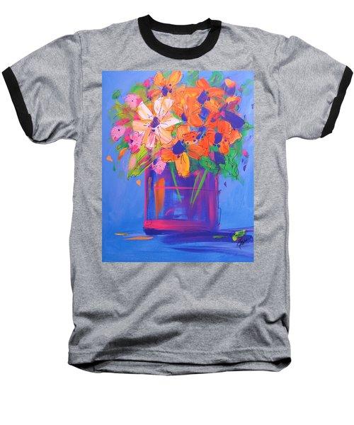 Loosey Goosey Flowers Baseball T-Shirt by Terri Einer