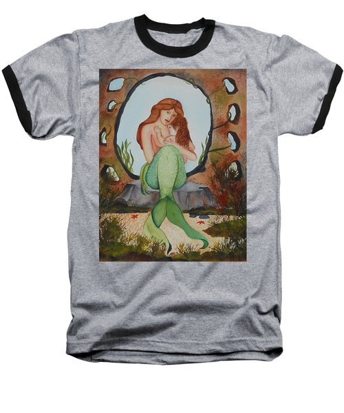 Baseball T-Shirt featuring the painting Loralie And Her Daughter by Virginia Coyle