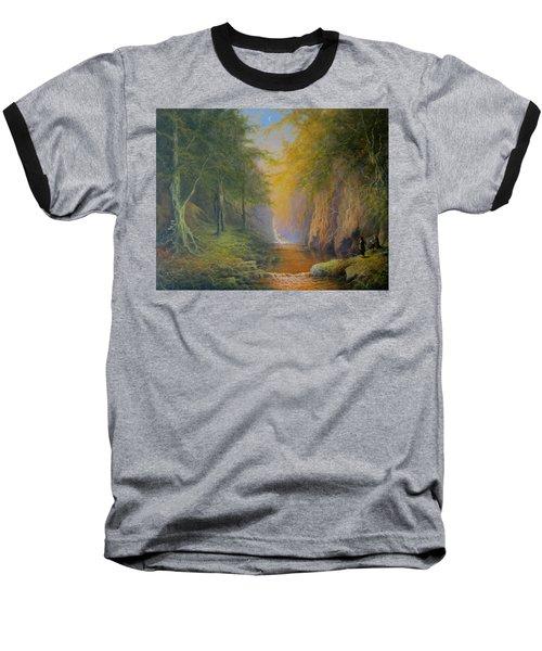 Lord Of The Rings Fangorn Treebeard Merry And Pippin Baseball T-Shirt by Joe  Gilronan
