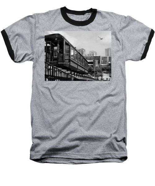 Los Angeles Angels Flight.bw Baseball T-Shirt by Jennie Breeze