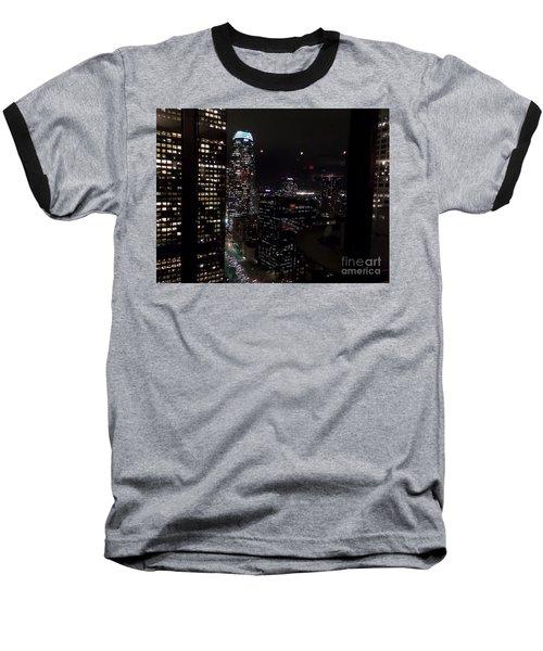 Los Angeles Nightscape Baseball T-Shirt