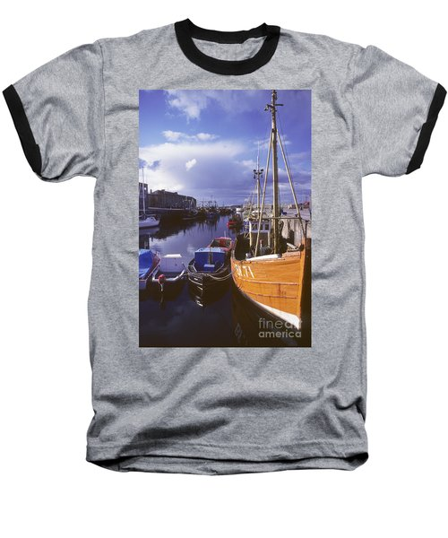 Lossiemouth Harbour - Scotland Baseball T-Shirt