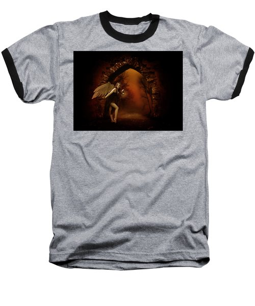 Baseball T-Shirt featuring the photograph Lost Fairy by Ester  Rogers