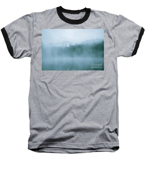 Lost In Fog Over Lake Baseball T-Shirt by Jola Martysz