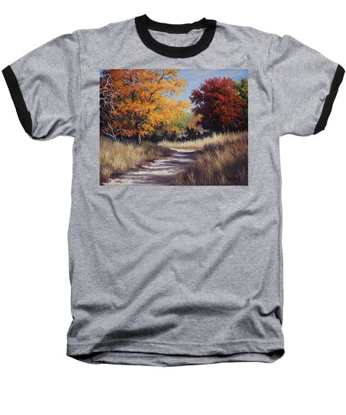 Lost Maples Trail Baseball T-Shirt by Kyle Wood