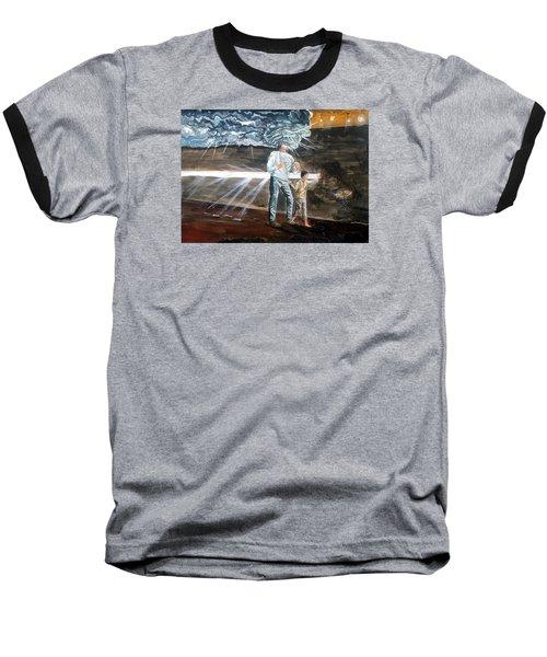Lost Sometimes Baseball T-Shirt by Lazaro Hurtado
