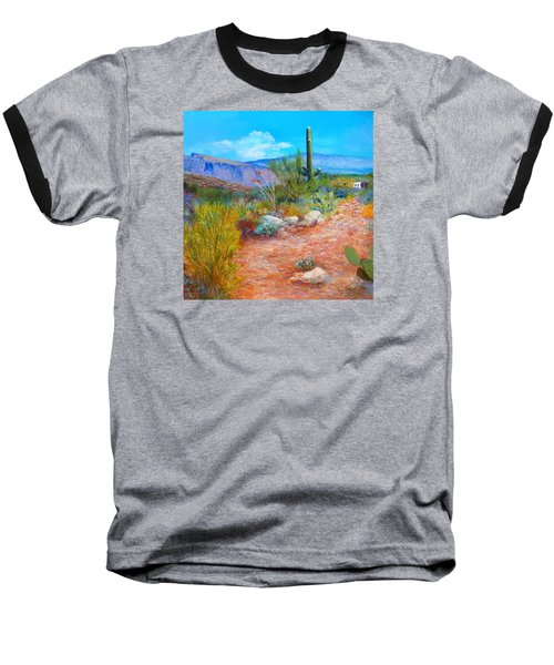 Baseball T-Shirt featuring the painting Lot For Sale 2 by M Diane Bonaparte