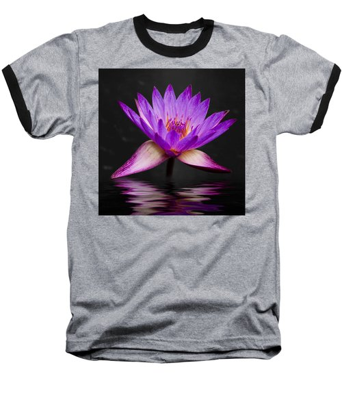 Lotus Baseball T-Shirt by Adam Romanowicz