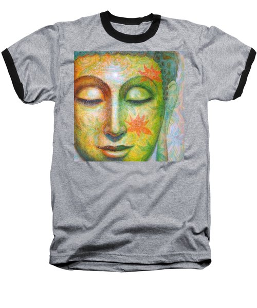 Lotus Meditation Buddha Baseball T-Shirt by Sue Halstenberg