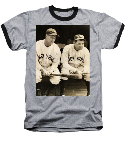 Lou Gehrig And Babe Ruth Baseball T-Shirt by Bill Cannon