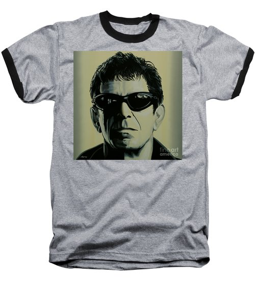 Lou Reed Painting Baseball T-Shirt by Paul Meijering