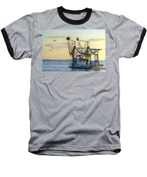 Louisiana Shrimping Baseball T-Shirt