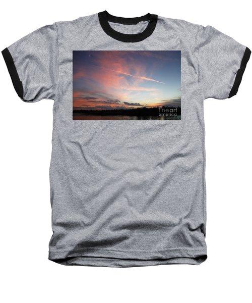 Louisiana Sunset In Lacombe Baseball T-Shirt by Luana K Perez