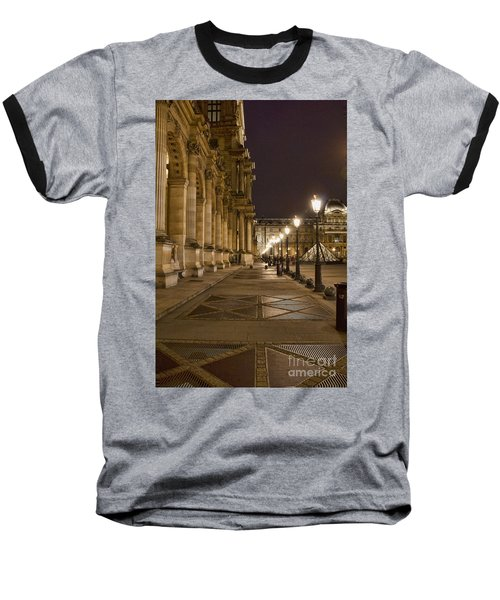 Louvre Courtyard Baseball T-Shirt