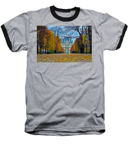 Louvre In Fall Baseball T-Shirt