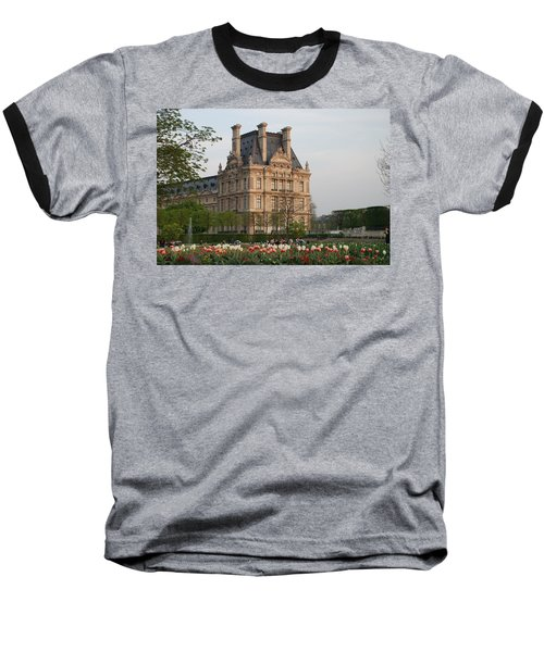 Baseball T-Shirt featuring the photograph Louvre Museum by Jennifer Ancker