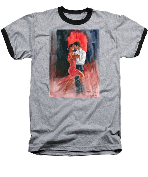Love And Tango Baseball T-Shirt by Melly Terpening