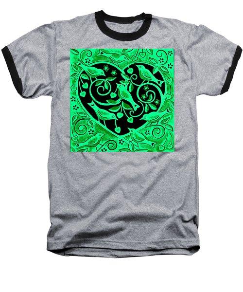 Love Birds, 2012 Woodcut Baseball T-Shirt