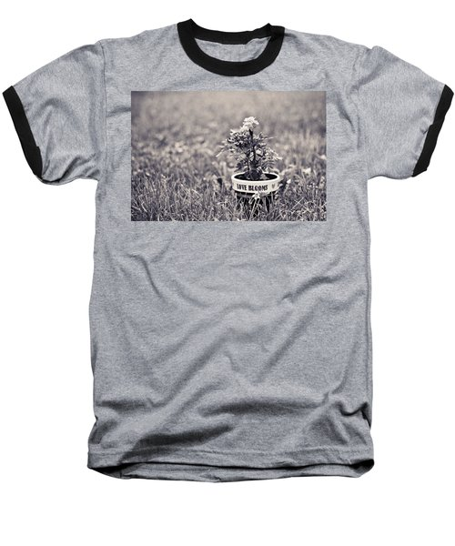 Baseball T-Shirt featuring the photograph Love Blooms by Sara Frank
