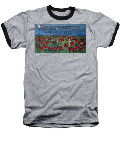 Love For Flanders Fields Poppies Baseball T-Shirt