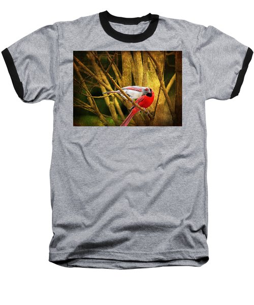 Baseball T-Shirt featuring the photograph Love In A Dark World by Trina  Ansel