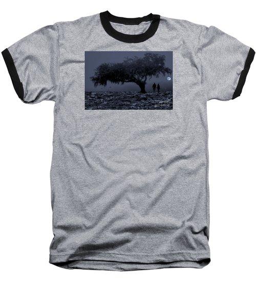 Love In Moon Light Baseball T-Shirt by Manjot Singh Sachdeva
