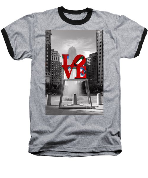Love Isn't Always Black And White Baseball T-Shirt by Paul Ward