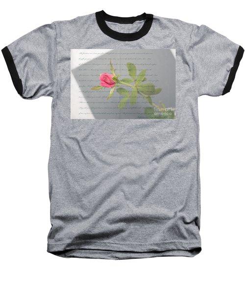 Love Letter Lyrics And Rose Baseball T-Shirt