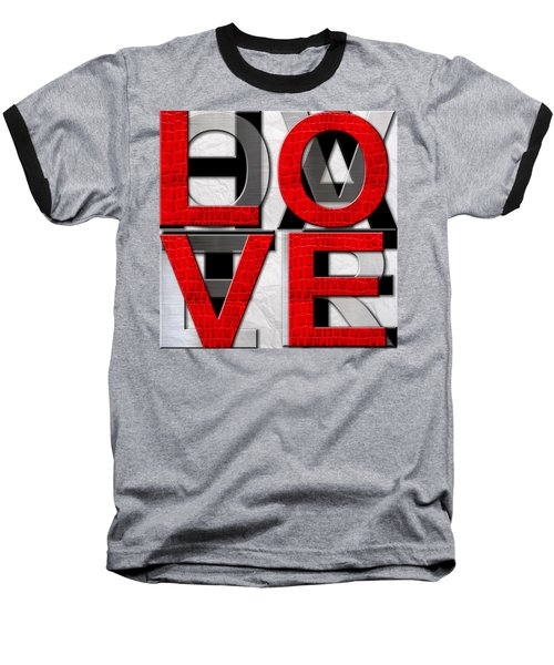 Love Over Hate Baseball T-Shirt