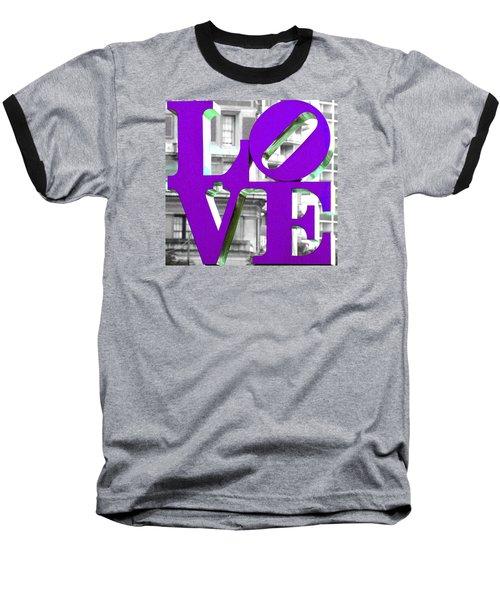 Love Philadelphia Purple Baseball T-Shirt by Terry DeLuco
