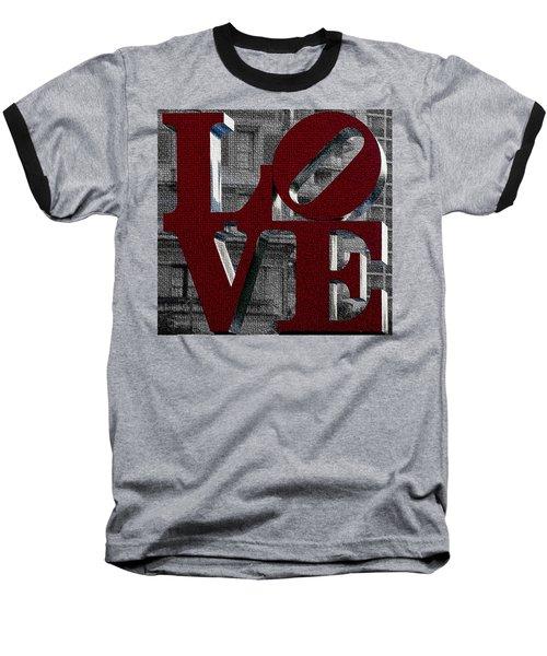 Love Philadelphia Red Mosaic Baseball T-Shirt