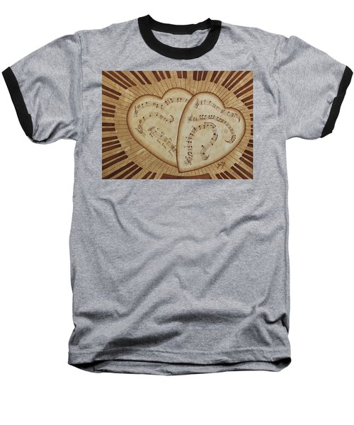 Baseball T-Shirt featuring the painting Love Song Of Our Hearts by Georgeta Blanaru