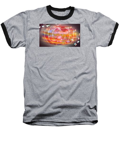 The Magnetic Field Of Love Baseball T-Shirt